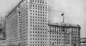 The King Edward Hotel topped by the Crystal Ballroom, circa 1923.