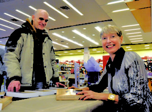 King West author Luba Lesychyn signs her book at John & Richmond's Chapters.