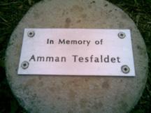 Memorial plaque for Amman