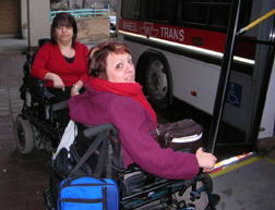 Linda De Carlo and Rose Mortelli of Windward take Wheeltrans to work.