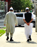 Muslims attending prayer services adds to public presence on Regent Park's streets.