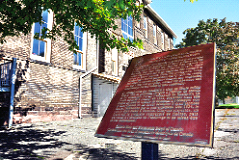 Plaque honours the Blackburns at the old Sackville Street Public School.