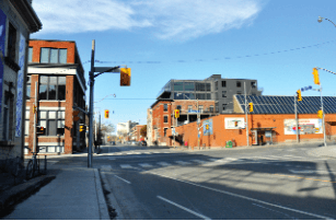 Change may be coming: The intersection of Queen St. and River St. today.