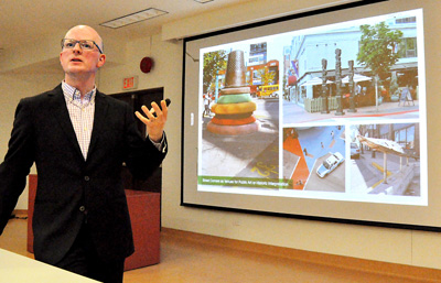 Landscape architect Brent Raymond explains a new vision for St. Lawrence Neighbourhood.
