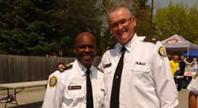 Supt. Mark Fenton with current Toronto Police Chief Mark Saunders. Julian Fantino was police chief during the G20 disgrace.