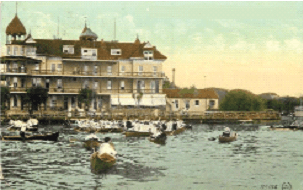 World Rowing Champion Ned Hanlan operated Hanlan's Hotel.