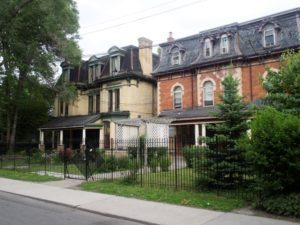 The handsome TCHC properties on Winchester, due to be leased to Margaret's House.