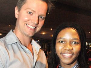 Tyler Brown and Hermine Mbondo.