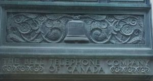 The Bell Canada entrance on Temperance St. in Downtown Toronto.