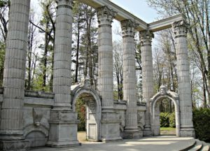 Remnants of the Bank of Toronto at Guildwood Park.