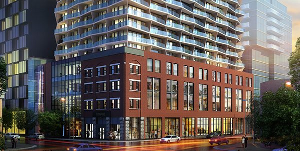 Artist's depiction of what the building at 663 King St. W. will look like upon completion.