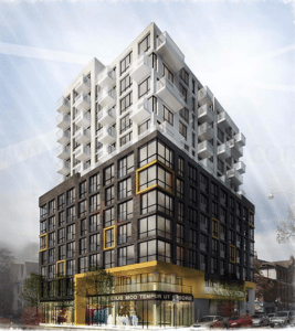 Designer's depiction of what the completed building at 520 Richmond will look like.